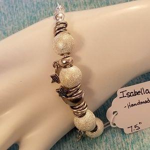 "NWT Handmade ""Moon&Stars"" Bracelet 7.5"" Stars"